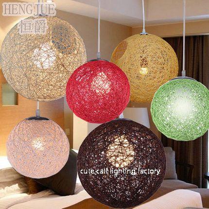 lampadario a palla : Ma palla lampadario moderno e minimalista creativo sferica rattan bar ...