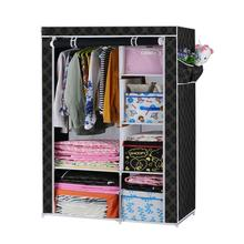 Wardrobe foldable Cloth Tube Steel DIY Simple Reinforcement Thicken for Home Shoe Racks  Storage Combination(China (Mainland))