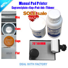 Manual pad printer oil printing paint tools equipment logo expiration codes printer can customize plate board