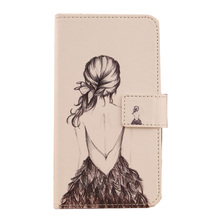 Buy LINGWUZHE Book Style Cell Phone PU Leather Cover Magnet Wallet Case ZTE Blade D6 V6 E503 for $3.69 in AliExpress store