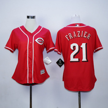 2016 woman 21 Deion Sanders Jersey Color Red White Baseball Embroidery Jerseys(China (Mainland))