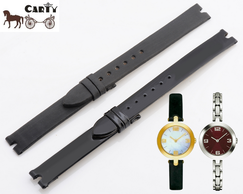 Carty Watch Strap 12mm Silk Band Leather Hours Notches Interface T003 Waterproof Watchband