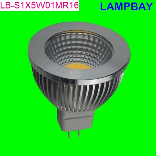 LED COB spotlight with reflector 120 degree 5W MR16 12V high lumens high quality replace to 50W halogen lamp(China (Mainland))