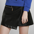 Shelikeit Hot Sale Women Soft PU Leather Skirt High Waist Slim Hip A Line Skirts Vintage