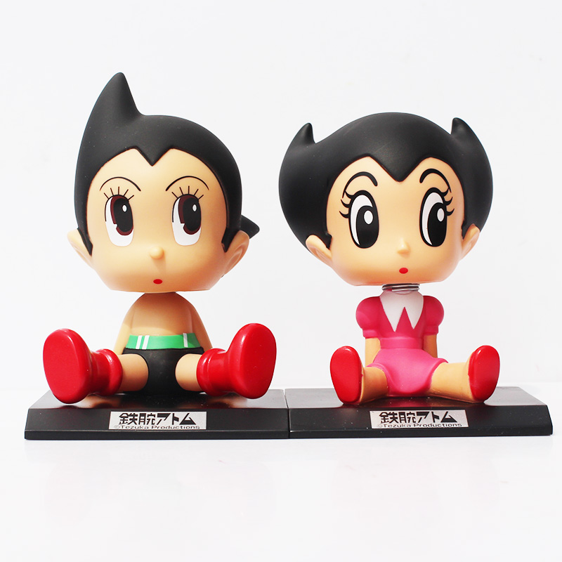 """2Styles Selectable Anime Cartoon Astro Boy Toys Astro PVC Action Figures Toy Dolls Wacky Wobbler Kids Toy Gifts 5"""" 12cm(China (Mainland))"""