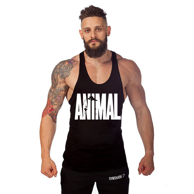 bodybuilding!Professional fitness Tank tops cotton vest GYM shark paragraph bodybuilding sports Tank top for men musculation(China (Mainland))