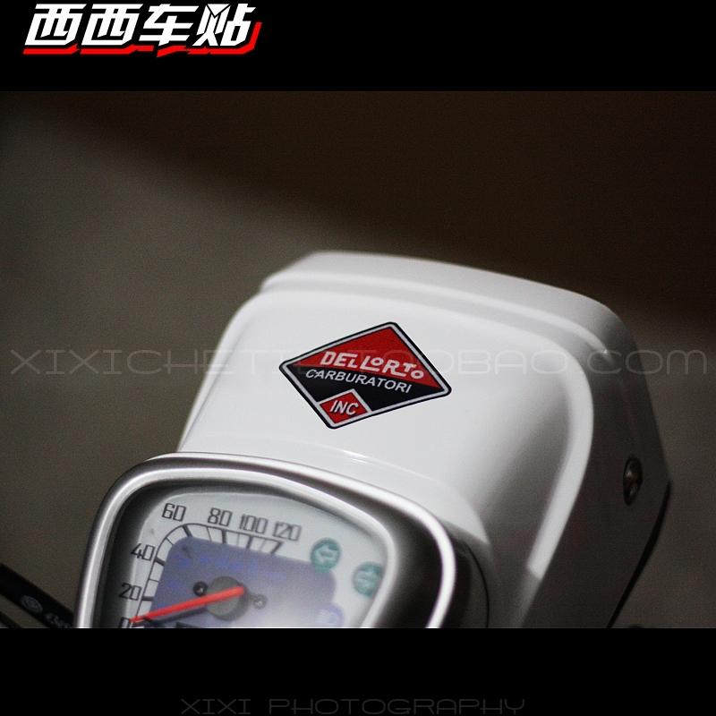 Free shipping Piaggio VESPA DU-CATI Du-cati Dellorto vintage Italian car stickers(China (Mainland))