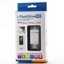 64GB USB Lightning i-FlashDrive HD Case For iPhone 5S 6 Plus OTG Micro USB i Flash iFlash Drive iFlashDrive For iOS 8.2 &Android