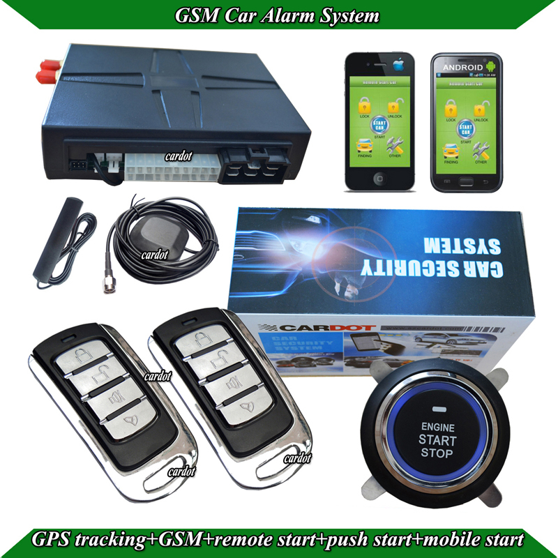 GPS car alarm system,passive keyless entry,lock or unlock automatically,RFID techology,remote start,push start,GPS tracking(China (Mainland))