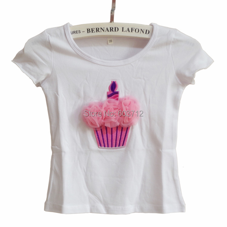 High Quality 2014 baby&Kids Pink Lace Cake GirlsTshirt Children Clothing Childrens Tops Summer Clothes Short Sleeve Tee shirts(China (Mainland))
