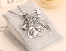 New 2015 Hot TV Play The Walking Dead Unique Charm Long Chain Pendant Necklace Gift(China (Mainland))