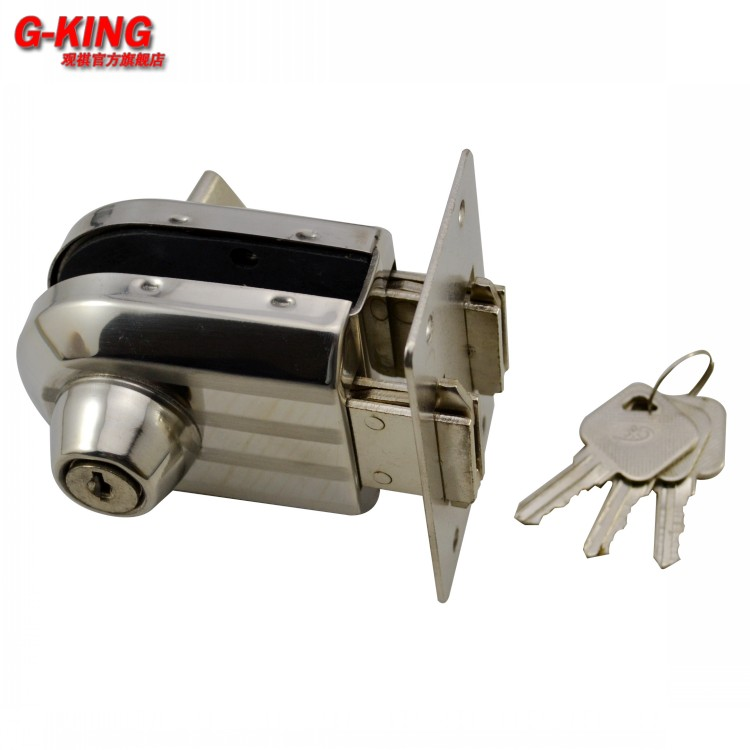 Not a single punch glass door knob lock glass rod inserted inside or pushed open the door sliding door hook lock 888B(China (Mainland))