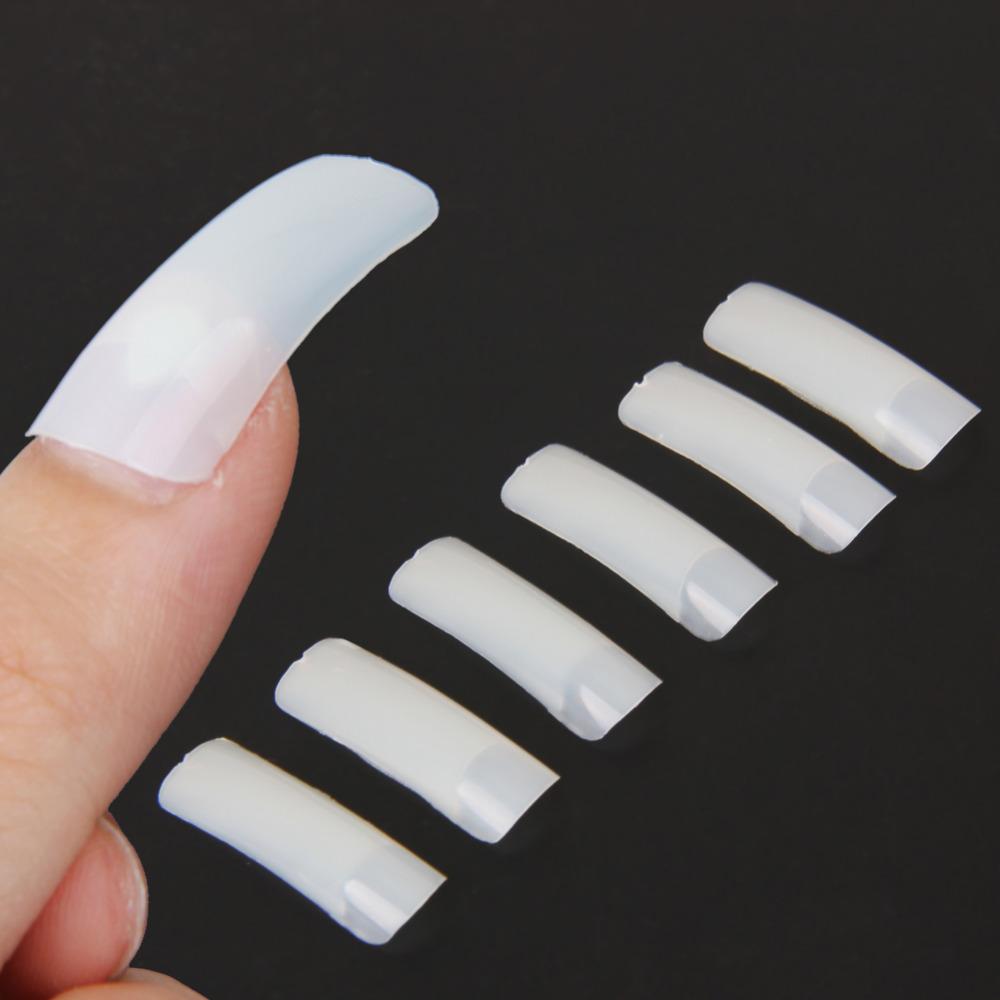 500 Pcs/Set 10 Sizes Nude White False Nail Art Design Tips French Acrylic UV Salon Design Manicure Tool