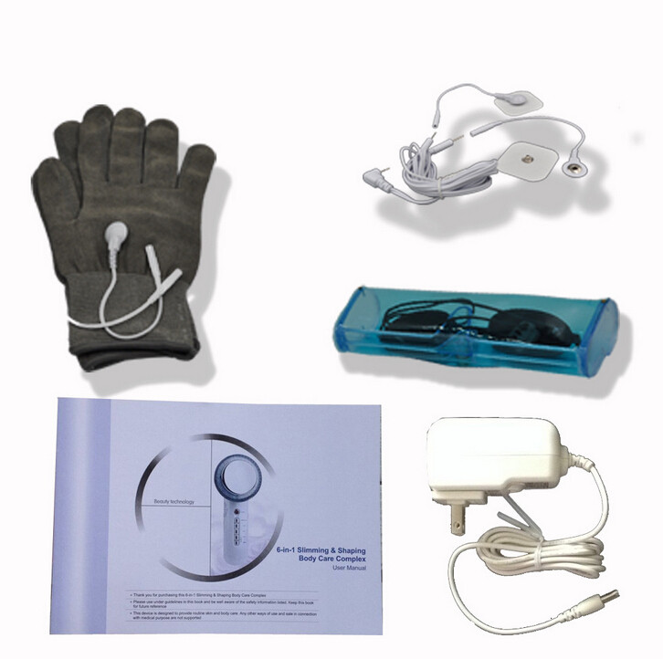 House 6IN1 EMS Face Photon Skin Care Ultrasound Facial Massage Galvanic Sonic Gloves Body Slimming Therapy Ultrasonic Beauty