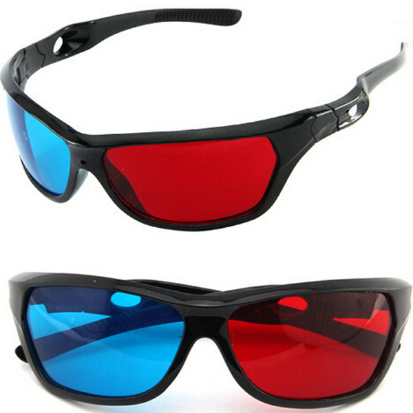 2015 Red And Blue Color Universal Type 3D Glasses TV Movie Dimensional Anaglyph Video Frame 3D