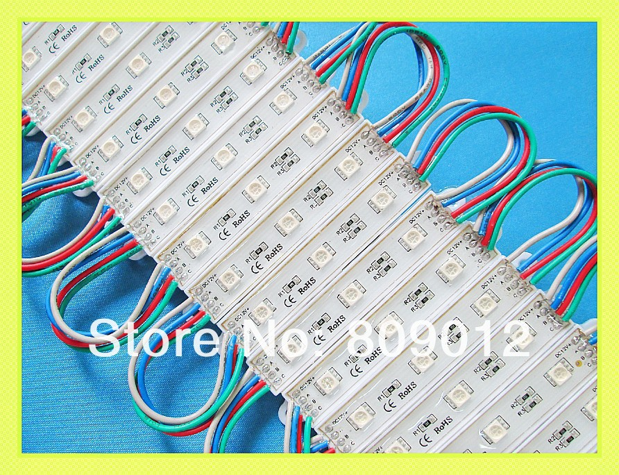 5050 LED module waterproof SMD 5050 RGB LED light module LED backlight channel letter DC12V 0.72W 3led/pcs Fedex free shipping(China (Mainland))