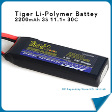 Tiger Li-Polymer Battey 2200mAh 3S lipo 11.1v 30C XT60 For Trex-450 Fixed-wing DIY RC Helicopter RC Model Quadcopter Drone