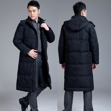 2013 Men quinquagenarian plus size plus size long design down coat male down outerwear thermal