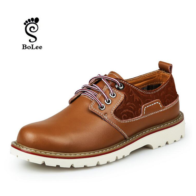 New Fashion British Martin Causal Shoes Genuine Leather Men Shoes Lace Up Men Working casual shoes Zapatos Hombre<br><br>Aliexpress