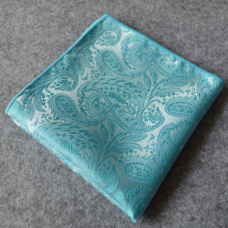 Fashion New Silk Pocket Squares Men Paisley Pattern Pocket Square Handkerchief Silk Paisley Men Hankies Men Suit Square 24*24cm(China (Mainland))