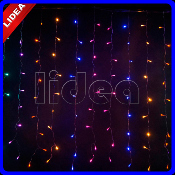 3M*3M 300 LED Wedding Garden Christmas Garland String Icicle Outdoor Waterfall Fairy Decoration Curtain New Year Light HK C-38(China (Mainland))