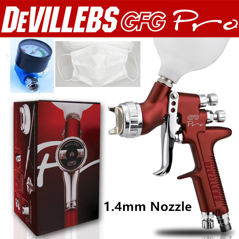 Wholesale and retail Devilbiss GFG professional spray gun HVLP car paint gun, painted high efficiency, good atomization(China (Mainland))