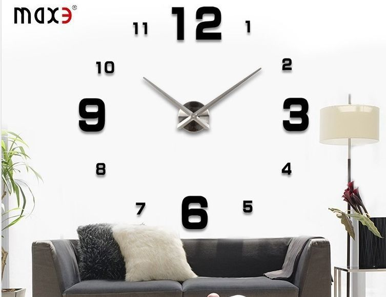 grande horloge design elegant yosoo diy d horloge murale design gante grande taille moderne. Black Bedroom Furniture Sets. Home Design Ideas