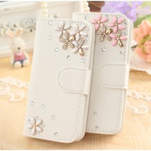 For Samsung Galaxy S5 Neo phone Case,DIY Cute Luxury Bling Crystal Diamond Leather Case Cover For Samsung Galaxy S5 Neo phone