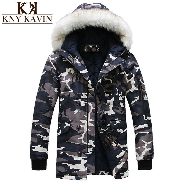 Camouflage Down Jackets 2014 New Designer Brand Fashion Winter Jacket Men Camo Snow Outdoor Long Casual Coats Jacket MC632(China (Mainland))