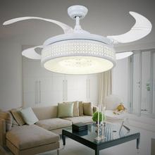 LED ceiling  fan lights luxury children antique  simple folding retractable quiet fan ventilador modern european  ceiling fan(China (Mainland))