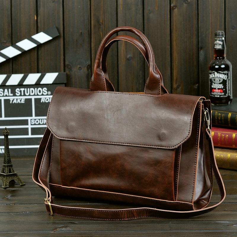 2 colors Allure Homme Business Bag Crazy Horse Leather Men's Messenger Bag Briefcase Man Shoulder Bag Laptop Bag Wholesale(China (Mainland))