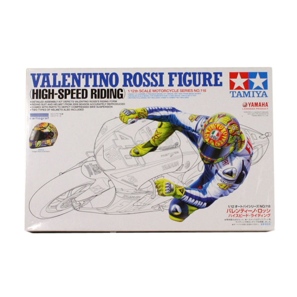 Tamiya 14118 1/12 Model Building Kits Valentino Rossi Figure High Speed Riding Supplies for Assembly Scale Motorcycle C9T(China (Mainland))