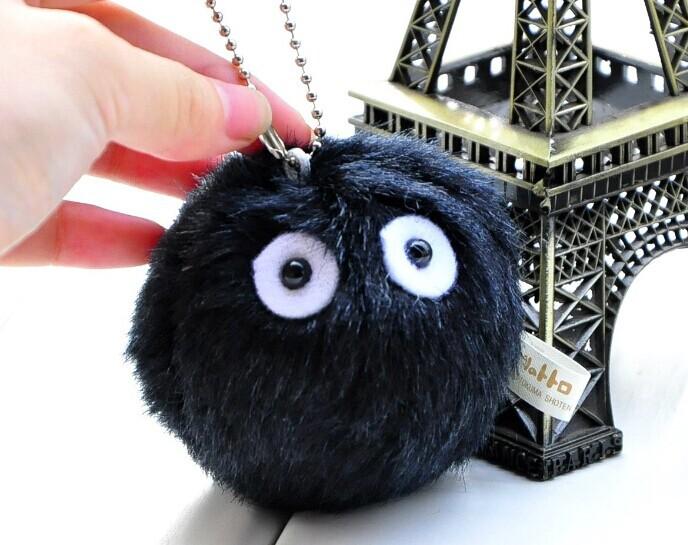 Kawaii MY Neighbor TOTORO Dustbunny 8CM Plush Keychain DOLL TOY ; Plush Stuffed TOY DOLL ; BAG Pendant TOY Gift DOLL(China (Mainland))