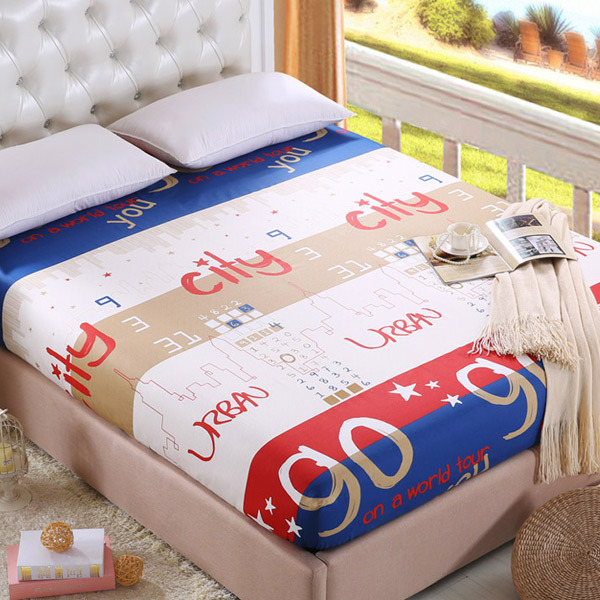 1PCS 100% cotton Cartoon bed Fitted sheet Twin/Full/Queen Size fitted sheet protection pad Mattress Cover sheet Free Shipping(China (Mainland))