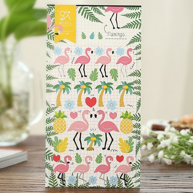 Vintage Pink Flamingo series stickers for notbook diary stationery  scrabooking sticker material School supplies (tt-1796)<br><br>Aliexpress
