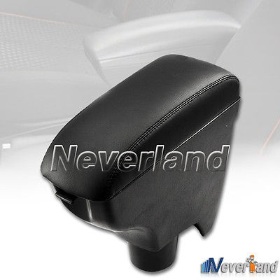 New Black Leatherette Armrest Center Console Storage Box For TOYOTA YARIS 06-10 Free Shipping A50(China (Mainland))