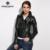 WINTER PALACE Fashion leather jacket women classic Short female leather jacket locomotive style women's sheepskin coat
