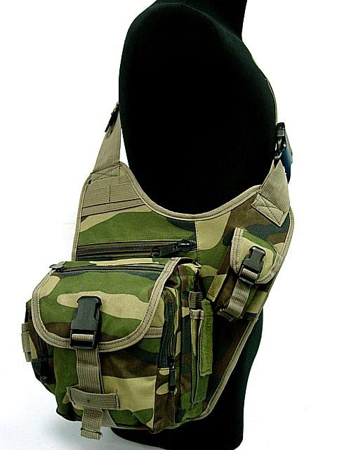 Tactical SWAT Utility Shoulder Bag Pouch Camo Woodland(China (Mainland))