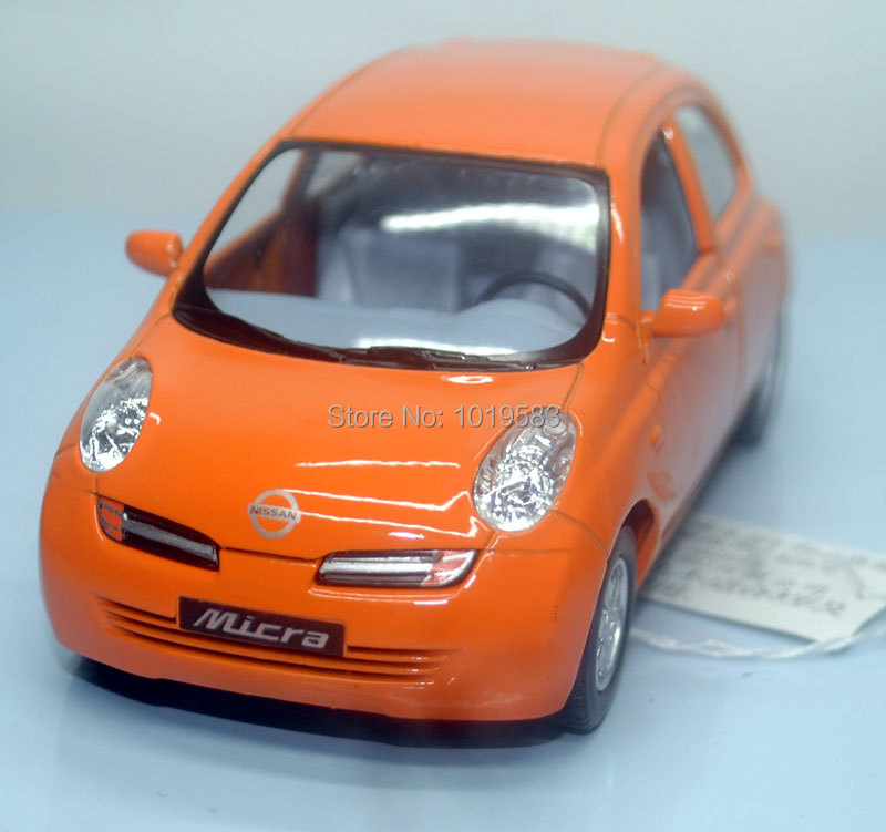 Brand New KINGSMART 1/28 Scale NISSAN Micra Diecast Metal Pull Back Car Model Toy For Gift/Kids/Collection(China (Mainland))
