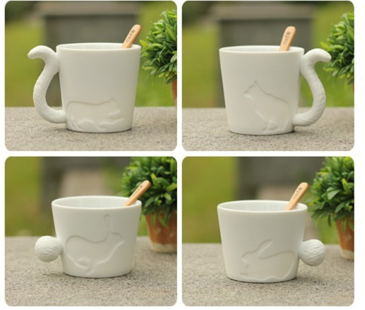 Free shipping cute Zakka animal ceramic coffee mug set .kinto animal mug, decoration mugs, birthday gift