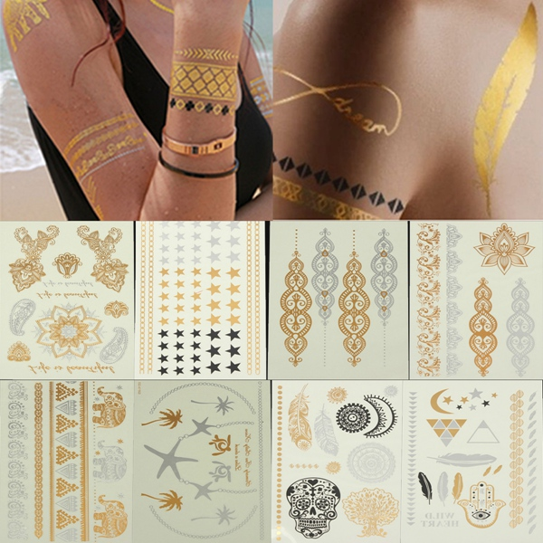 Временная татуировка No 1 Bling Temporary Tattoos fashion western tribal elements temporary tattoos stickers