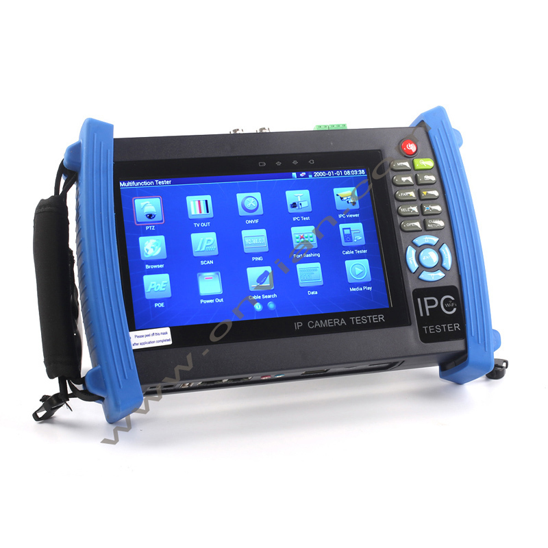 """7"""" Touch Screen 1080P HDMI IP Camera CCTV Tester/POE Test WIFI Video Tester IPC-8600(China (Mainland))"""