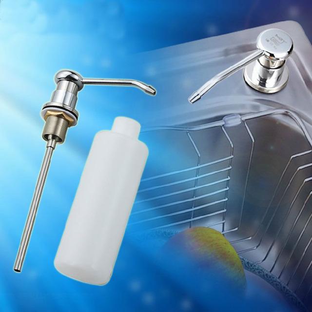 Plastic Bottle Kitchen Sink Replacement Soap Lotion Sanitizer Dispenser #23329