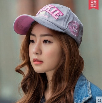 Hat female spring and summer letter baseball cap male women's outside sun-shading sunscreen cap sport