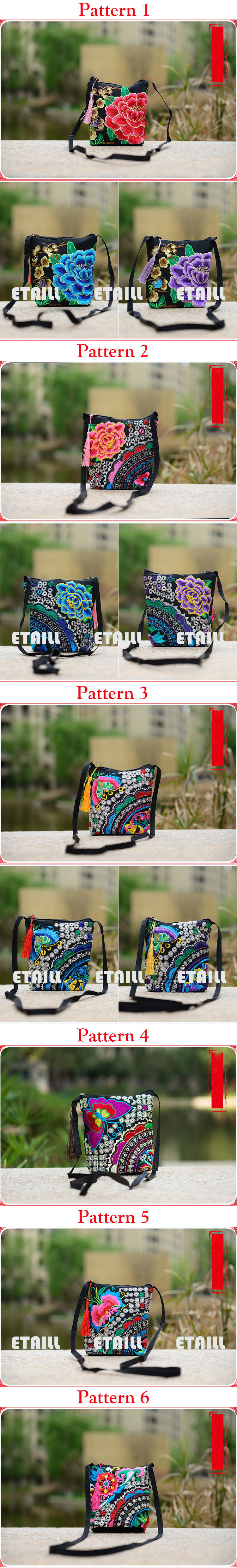 bag fashion ladies embroidery