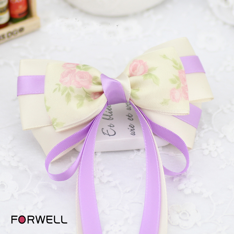 Handmade barrettes hair accessories for women girls long ribbon bow hair clips silk yarn hairpins headdress flower hair jewelry(China (Mainland))