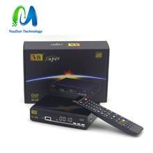 [Genuine] V8 Super DVB-S2 Satellite TV Receiver Support PowerVu Biss Key Cccamd Newcamd Youtube Youporn USB Wifi Set Top Box(China (Mainland))