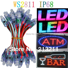 AAA 12mm WS2811 led pixel module,IP68 waterproof DC5V full color RGB string christmas LED light Addressable as ucs1903 WS2801(China (Mainland))
