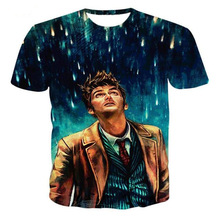 Doctor Who 10th Doctor David Tennant 3D Print T-shirt Cotton Unisex Tee Shirts Plus Size Turn of the Universe Homme Loose Tops