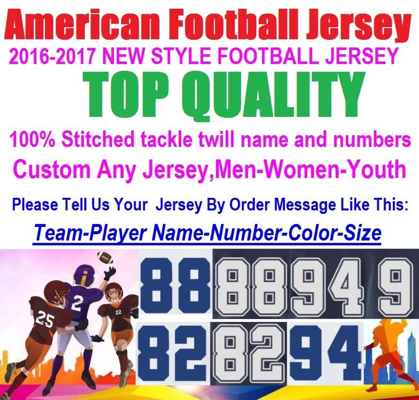 American Football Jerseys ezekiel elliott dez bryant tony romo jason witten Troy Aikman Sean Lee Jason Witten Custom Jersey 2016(China (Mainland))